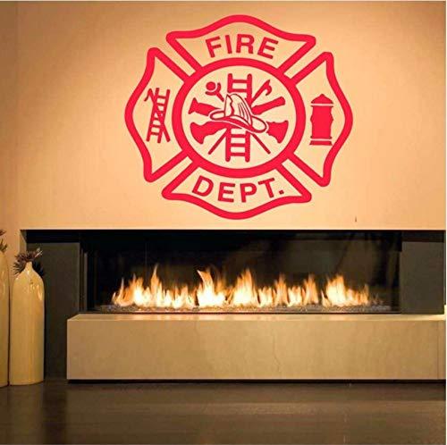 Lvabc Feuerwehrmann Zeichen Feuer Dept Abnehmbare Wandaufkleber Für Wohnzimmer Tapete Wohnkultur Vinyl Aufkleber Kindergarten Kinderzimmer 46X42 Cm