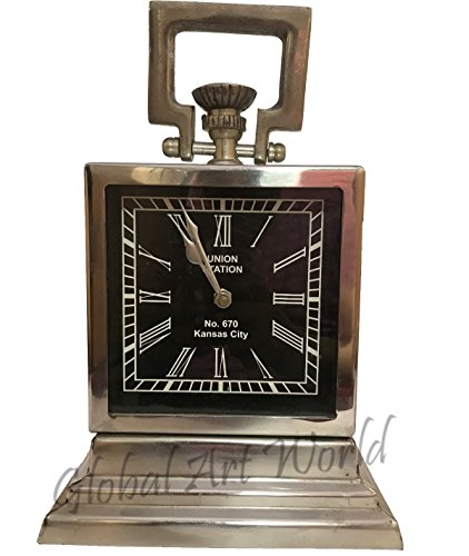 Antiques World Vintage Wall Clock Union Station Kansas City Usa Antique Re-Creation Station Themed Clock Watch Clock Black Dial AWUSAWC 023
