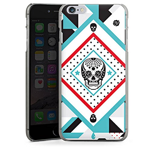 Apple iPhone X Silikon Hülle Case Schutzhülle Totenschädel Muster Crazy Maya Hard Case anthrazit-klar