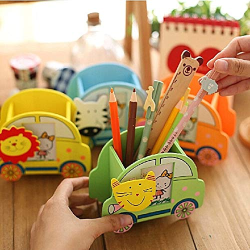 SillyMe Wooden Stationary/Pencil Holder with Photo Frame | Return Gift for Kids Birthday Party (Pack of 24)