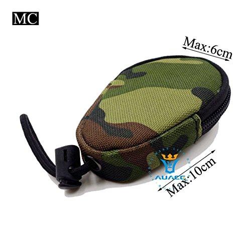 Multifunzione Mini sopravvivenza Gear tattico Sacca Molle Pouch Coin Key Pouch, campeggio portatile Borse da viaggio Borse Strumento Borsa marsupio, BK MC