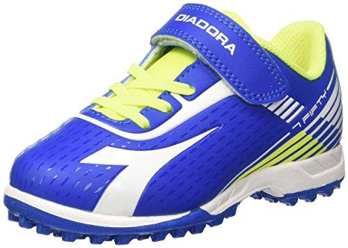 Diadora 7fifty Tf Jr Ve, Scarpe per Allenamento Calcio Unisex – Bambini Blu (Azzurro/Bianco)