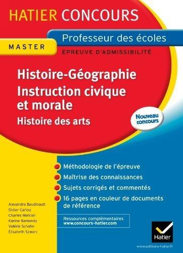 Epreuve écrite Histoire-Géographie. Instruction ...