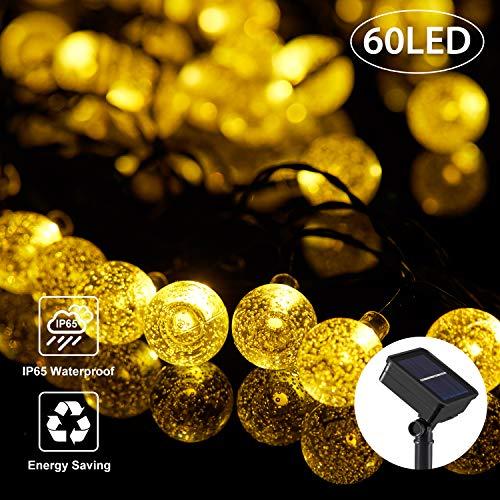 OxyLED Catena Luminosa Solare,60 LED 8 modalità Ghirlanda LED Energia Solare,7,85m LED Stringa Esterno Impermeabile illuminazione Fata esterno per Natale,Giardino,Portico,Albero,Matrimonio,Festa