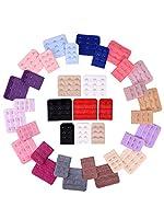 eBoot 36 Stück Erweiterung der Damenbüstenhalter BraExtender Haken, 2 Haken und 3 Haken, 18 Farben