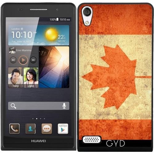 SilikonHülle für Huawei Ascend P6 - Kanada Grunge-Flagge by Warp9