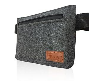 PiuPet Premium sac à friandises pour chien Sac d'alimentation en feutre | Idéal pour le entraînement des chiens | Haute qualité et avec goût |