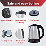 Inalsa Perfecto 1.5-Litre Electric Kettle (Silver/Black)