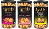COCO Shriram's Arab Roasted Makhana - 3x80gm Multi Flavour Jars Bundle - Chatpata, Cheese Tomato, Cocktail (Discounted & Free Shipping)