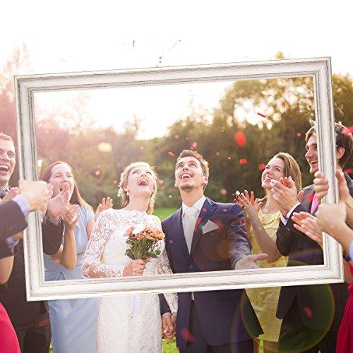 Hochzeits-Bilderrahmen | 50 x 70 weiß