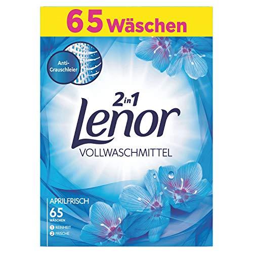 Lenor Vollwaschmittel Pulver Aprilfrisch 4kg, 65Waschladungen