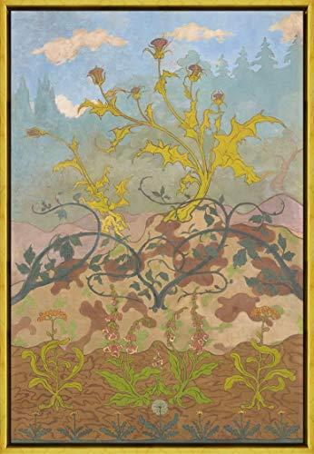 Berkin Arts Paul Elie Ranson Rahmen Giclee Auf Leinwand drucken-Berühmte Gemälde Kunst Poster-Reproduktion Wand Dekoration Fertig zum Aufhängen(Chardons und Digital durch Paul Ranson) #XLK
