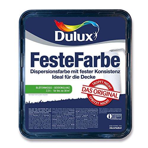 Dulux Feste Farbe Wand- und Deckenfarbe, Blütenweiß Seidenglänzend