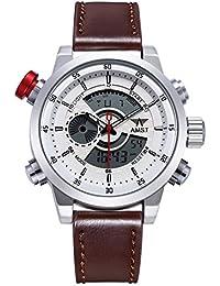 AMST reloj de los hombres de la manera dual militar Pantalla LED relojes digitales