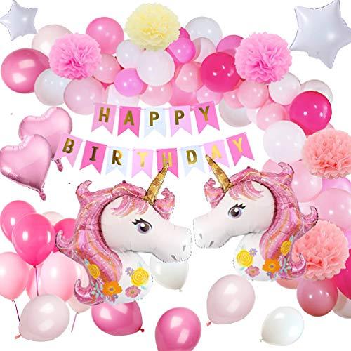 Yansion Unicornio Fiesta Decoración Unicornio cumpleaños
