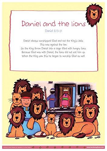 Daniel und die Löwen-My Bibel Geschichten A3Poster