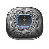 Anker PowerConf Bluetooth-conferentieluidspreker met 6 geïntegreerde microfoons, verbeterde geluidsopname, 24 stuks batterij, USB-C-connectiviteit, voor thuiskantoor (zwart)
