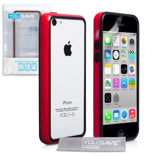 iphone-5c-tasche-rot-schwarz-silikon-gel-stossstange-hulle