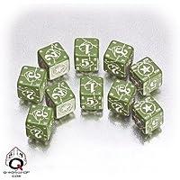 "Q-Workshop QWOWUS14 ""Axis and Allis Battle D6 USA Dice Green/White 15"" Card Game"