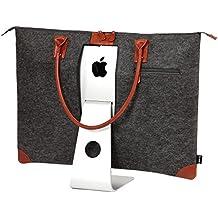 "Lavolta caja de transporte para iMac de 27pulgadas–fieltro & piel bolso de hecha a mano para Apple iMac 27""Retina 5K & 27Thunderbolt Display–con bolsillos para iMac accesorios"