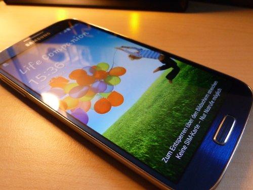 Samsung Galaxy S4 Smartphone (5 Zoll (12,7 cm) Touch-Display, 16 GB Speicher, Android 5.0) blau (Galaxy Handy Unlocked Neu S4)