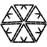 WINOMO 6Stück Billard Dreieck für 89Ball Billard (schwarz)