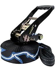 Slackline 10 + 2 m Evolution 2.0 (cargas hasta 3 toneladas) por BB Sport, Slacklines Color:negro-azul-blanco