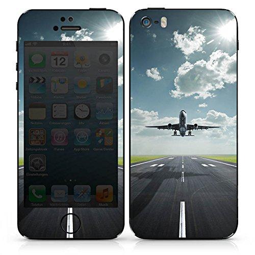 Apple iPhone SE Case Skin Sticker aus Vinyl-Folie Aufkleber Flugzeug Take Off fliegen DesignSkins® glänzend