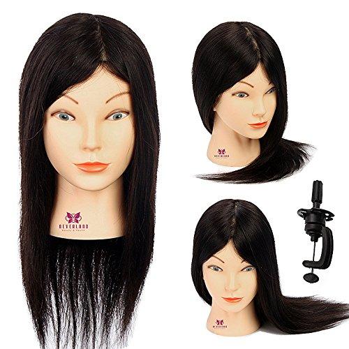 Neverland Beauty 40cm 100% Vrais Humains Cheveux Tête d'apprentissage Tête à Coiffer La Formation Cosmétologie Mannequin Head #2