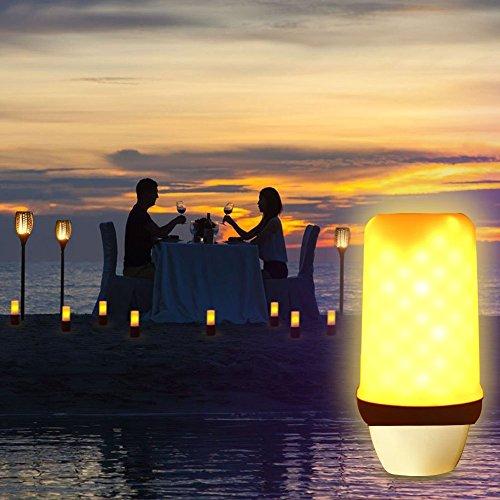 Bombilla led con efecto de llama, de Bogao, atmósfera vintage, decorativa, luz blanca cálida, 5vatios, E27,1 unidad