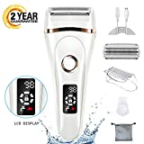 FAMATE Ladies Shaver Electric Razor for Women Rechargeable Electric Shaver with Safety Lock