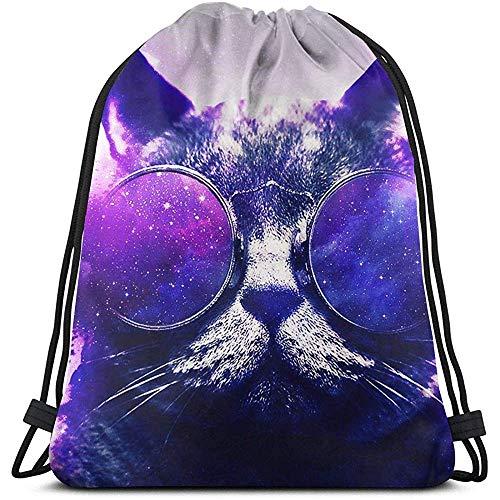 G.H.Y Coole Katze mit Sonnenbrille Kordelzug Taschen Unbreakable Drawstring Premium Durable String