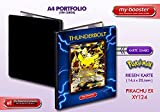 Portfolio Pokemon Pikachu Ex Full Art XY124 130KP XY11 - 180 Karten einzuordnen - Format A4 Album Binder