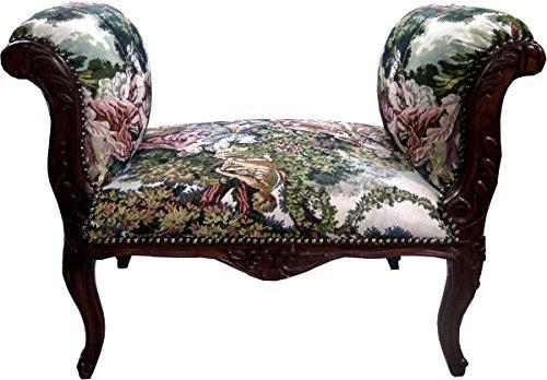 Casa Padrino Barock Schemel Hocker Gobelin/Braun - Sitzbank - Möbel Antik Stil