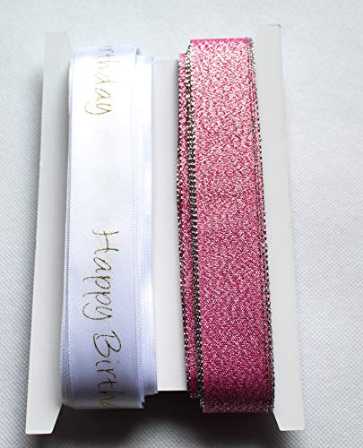 CaPiSo® Set 2 x 10 m Brokatband-Lurex Banda Brillante