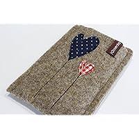 Handytasche - Handyhülle - iPhone 8 Plus - aus hochwertigen Wollfilz - Schutz vor Kratzern & Schmutz