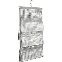 InterDesign Chevron Soft Storage Organizzatore per Borsette a 5 Tasche da Appendere, Vinile, Beige, 42x2.2999999999999998x78.5 cm - Supporto Della Borsa Di Visualizzazione