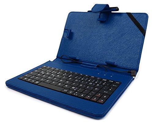 DURAGADGET Deutsche Tastatur QWERTZ-Tastatur 7 Zoll in Blau für HTC One M9 | M9 + | M9 Plus, Cubot Max + Rainbow | Dinosaur 5.5 | S550 Pro und Vernee Thor 4 | Nokia 6/D1 | LG Stylus 3 Smartphones