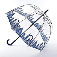 Fulton London Icons Birdcage Clear Walking Umbrella Crook Handle 93cms Long Closed
