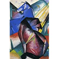 Two Horses Red and Blue: Franz Marc: