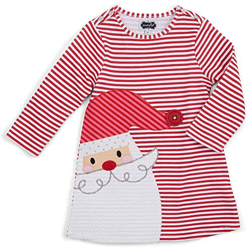 BenCreative Neugeborenen Baby Mädchen Deer Striped Prinzessin Kleid Weihnachten Kleinkind Mädchen Baumwolle Casual Outfits Kleidung red Santa Claus ()
