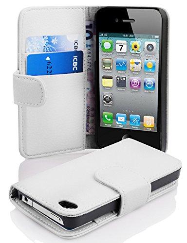 Cadorabo Apple iPhone 4 / 4S / 4G Funda de Cuero Sintético ESTRUCTUR