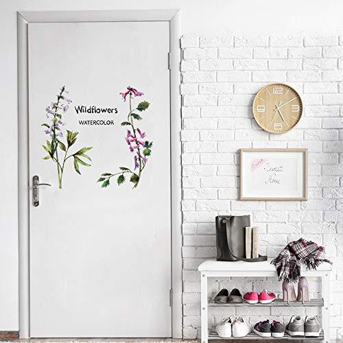 Kreative Wildblumen aquarell Wandaufkleber Tür wohnzimmer dekoration Wandbild Kunst Aufkleber Blume reben aufkleber wallpaper45 * 60 cm - Trocknen Wildblumen