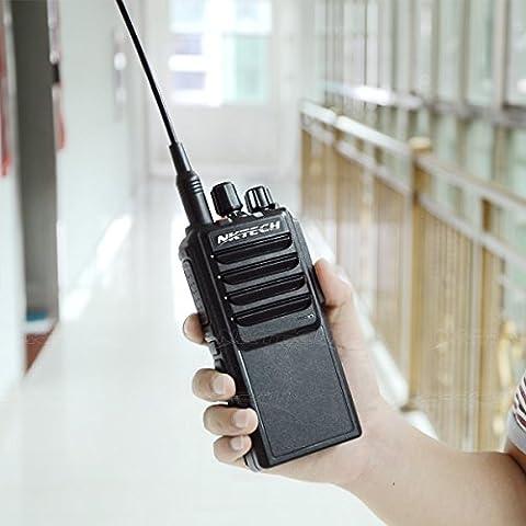 NKTECH U-25W UHF 400-480MHz Tri-Power 25W 10W 5W 10Km Range Handheld Mobile Ham Transceiver Walkie Talkie With 37CM High Gain Antenna Accessories (Black