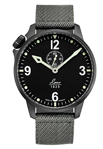 Laco/1925De Hombre cockpitwatch japonés automático acero inoxidable y nailon Casual reloj, Color gris (modelo: 861909)