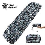 Inflatable Sleeping Mat Ultralight Sleeping Pad Camping Mattress with Pillow, Inflatable Roll Mat,Lightweight