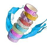 YeahiBaby Ruban de masquage Coloré DE 3 m - DIY Fait Main Enfants Fournitures d'artisanat, Ensemble DE 10 Motifs