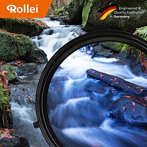 Rollei Polar ND+ Rundfilter 2-in-1 Kombination aus variablem ND-Filter(ND2 - ND32) und Polarisations-Filter (CPL-Filter), 77mm Durchmesser