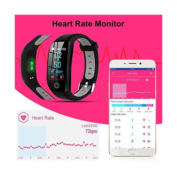 Tipmant Smartwatch, Relojes Inteligentes Mujer Hombre Niños Impermeable IP68 Pulsera Actividad Inteligente con… 2