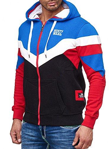 Rusty Neal Kapuzenpullover Sweatshirt Zipper Jacke Pullover Hoodie RN-19046 NEU Sax